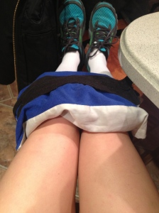 Oh, and I'm icing my legs. That part isn't as fabulous though.