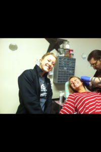 Smiling through the pain! :)