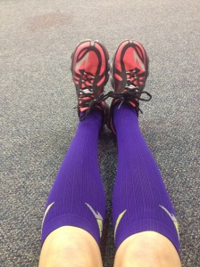 My PRO Compression today along with my PureFlow Brooks Running shoes!