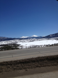 Part of the view on the way home!
