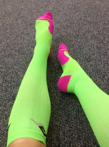 These PRO Compression socks remind of watermelon.. I like watermelon.