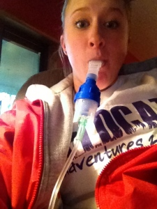 Breathing treatments.