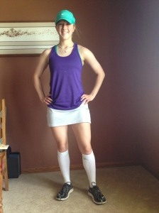 My cool tennis running outfit.