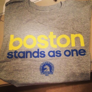 My Boston Marathon shirt finally came in! I'm wearing it right now. #BostonStrong
