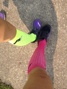 Sam and I's PROCompression! Mine is the neon green ones, obviously.